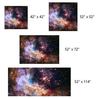 Space Galaxy - Celestial Fireworks, Hubble 25th Anniversary - Linen Table Cloth