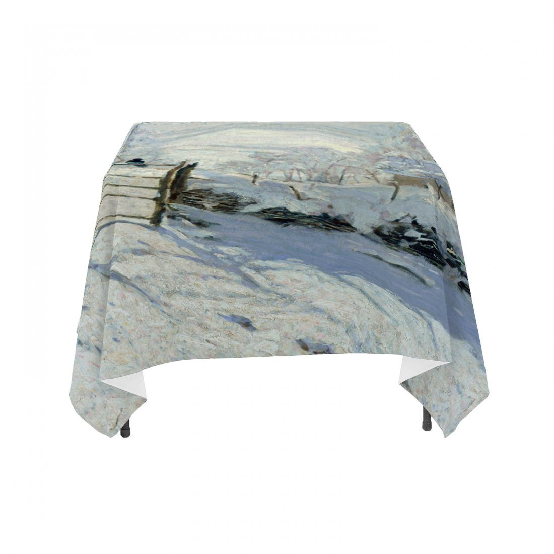 "Claude Monet's ""The Magpie"", Linen Table Cloth"