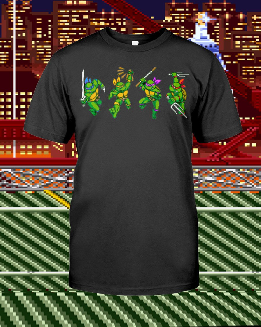 Turtles In Time Unisex T-Shirt - Any Color Shirt Available