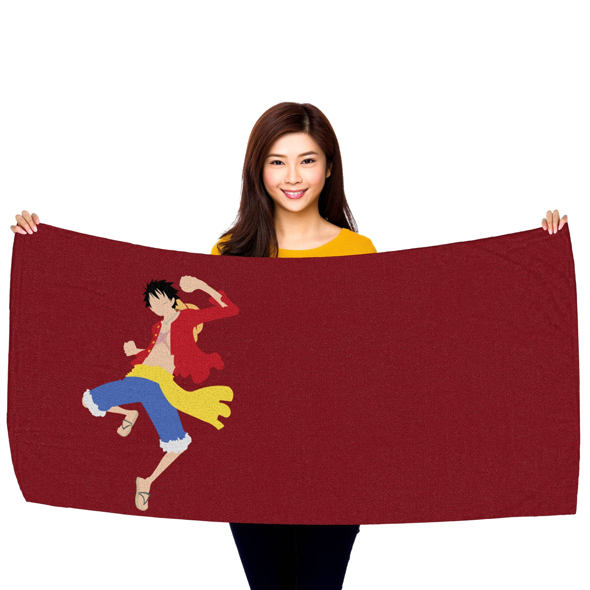 One Piece Luffy Punch Beach Towel