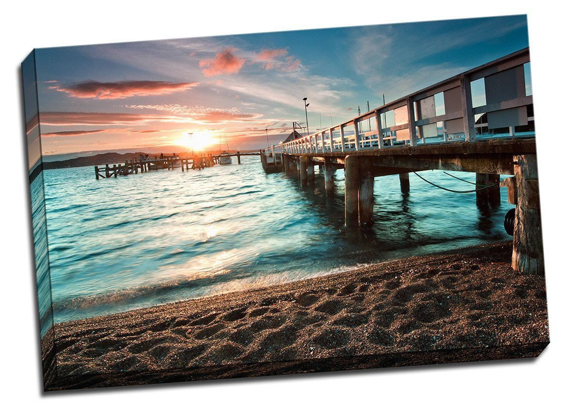 Sunset by the Pier Canvas Print