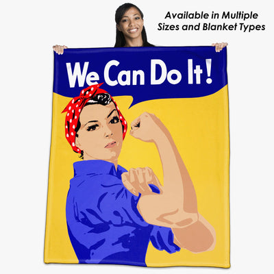 "Rosie the Riveter, ""We Can Do It"" Throw Blanket / Tapestry Wall Hanging"