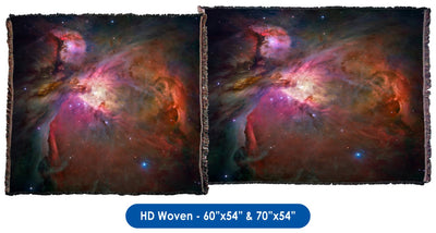 Orion Nebula M42 & M43 Throw Blanket / Tapestry Wall Hanging - Standard Multi-color
