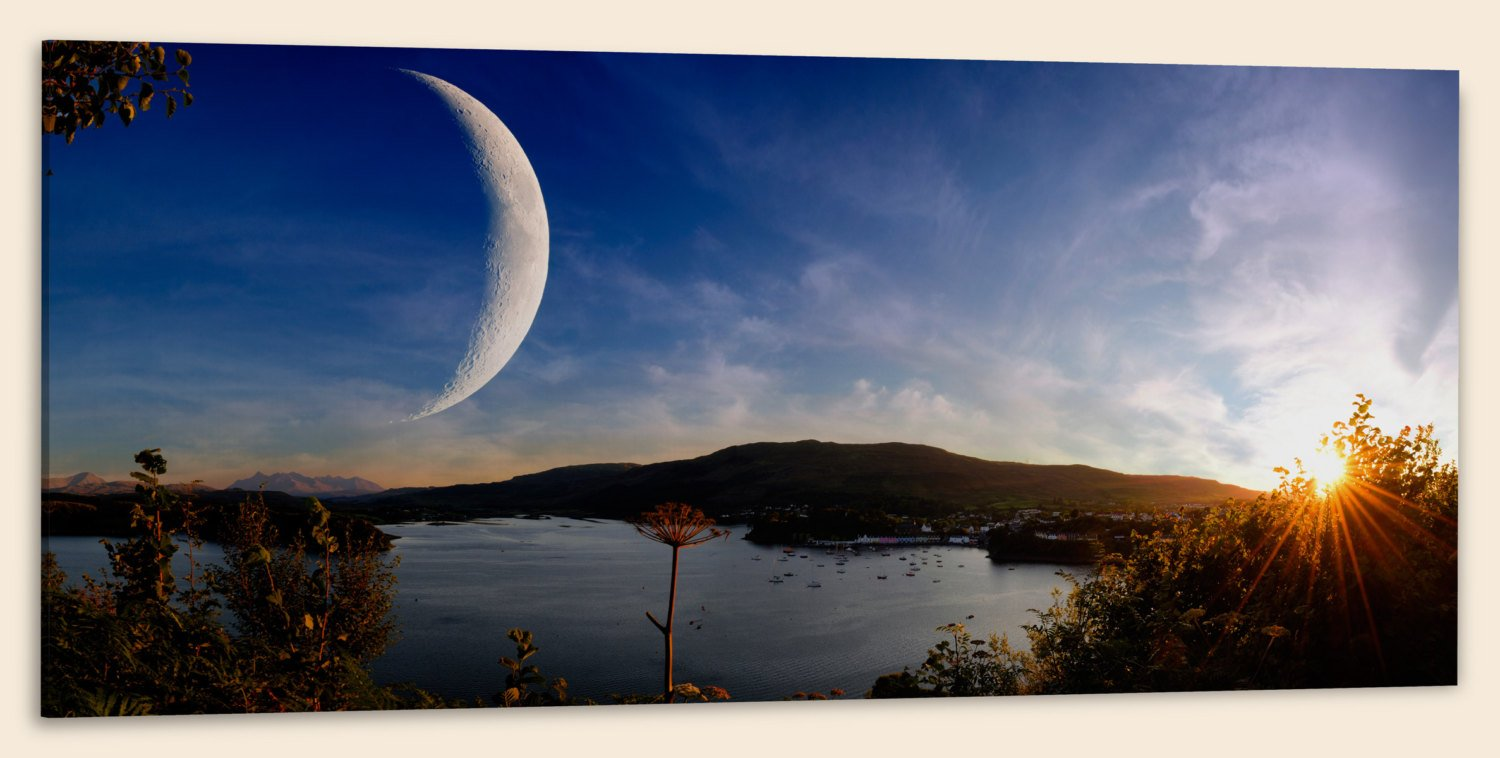 "Sunset on Another World, Panorama (20"" x 48"") - Canvas Wrap Print"