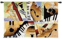 "Jazz Medley I - 52""x35"" Tapestry Wall Hanging"