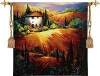 "Golden Tuscany - 53""x53"" Tapestry Wall Hanging"