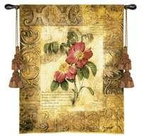 "Blossoming Elegance III - 41""x53"" Tapestry Wall Hanging"