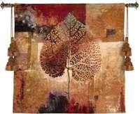 "Abstract Autumn - 35"" x 35"" Tapestry Wall Hanging"