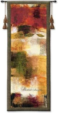 "Inscription - 21""x53"" Tapestry Wall Hanging"