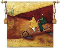 "Rolling Home Together - 53""x53"" Tapestry Wall Hanging"