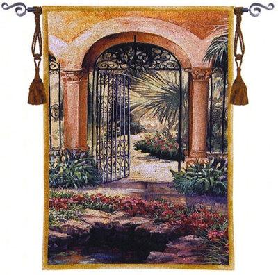 "East Gate II - 37""x52"" Tapestry Wall Hanging"