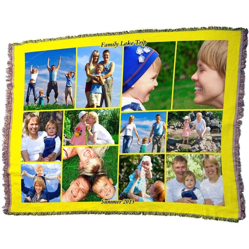 "Photo Blankets - HD Woven Full Service Collage Blanket 70"" X 54"" (X-Large)"
