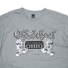 OSG Famous T-Shirt Old School Gym Grey Tee Detail