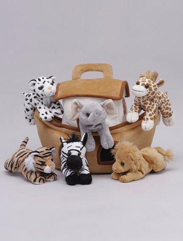 16 Inch Noah's Ark with 6 Small Plush Animals