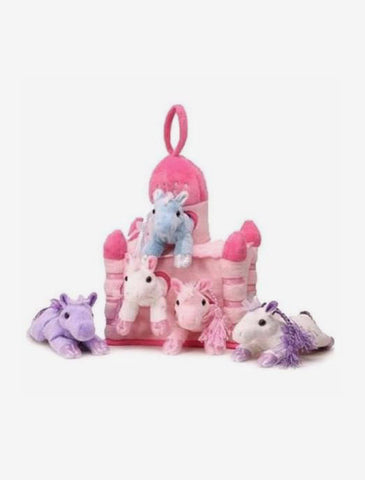 Soft Toy Castle with 5 Plush Little Ponnies