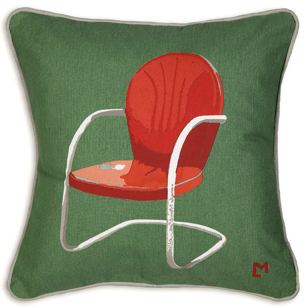Canvas Pillow - Vintage Porch Chair