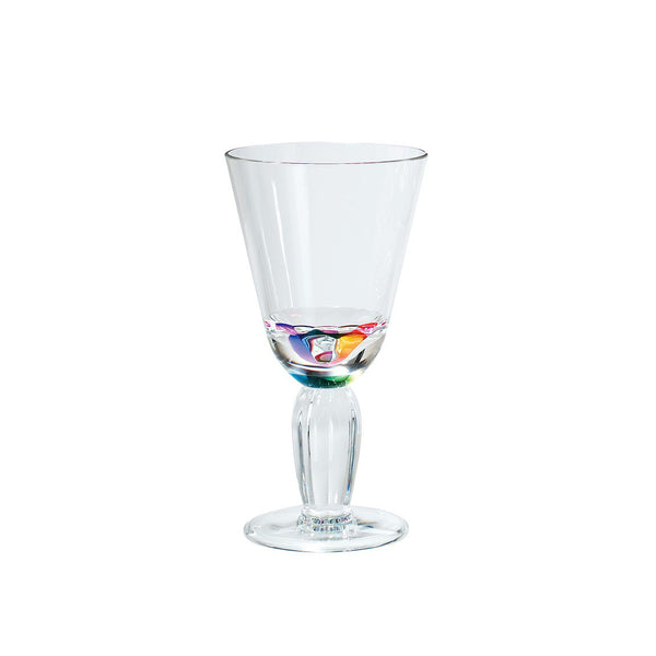 Merritt -  12oz Diamond Wine Glass Rainbow
