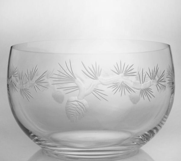 "Rolf Glass - Icy Pine 10"" Large Serving Bowl"