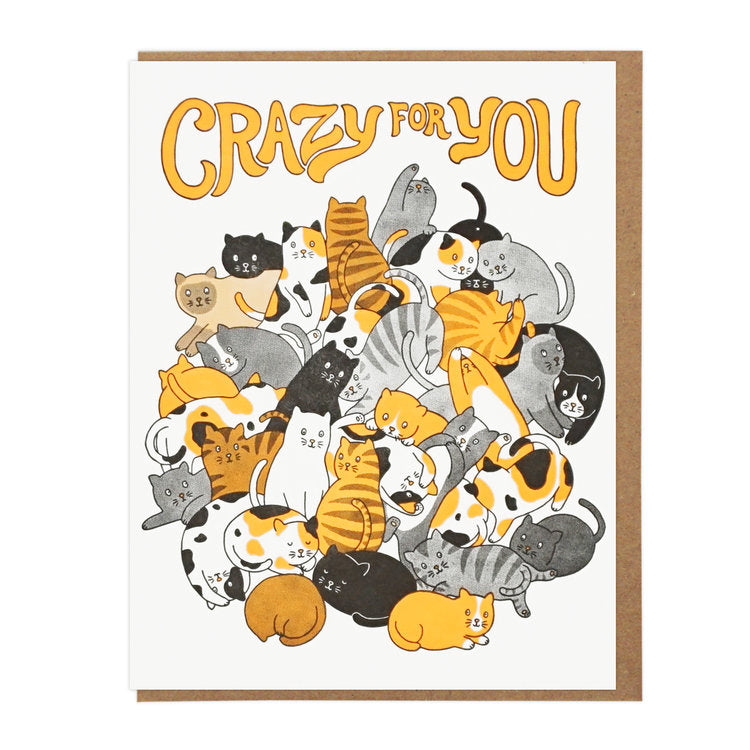 Crazy For You Cats Card