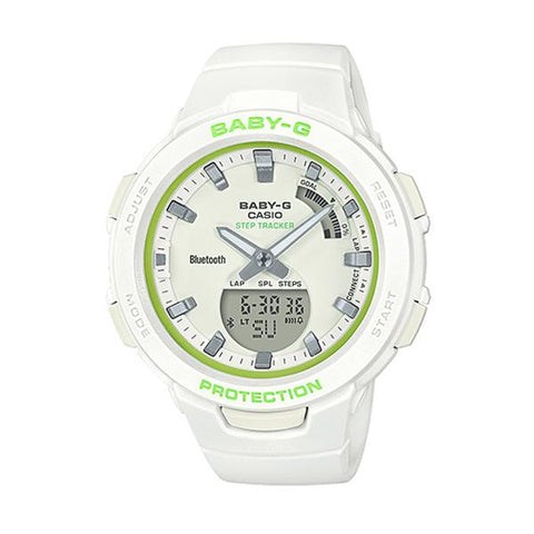 Casio Baby-G G-Squad Bluetooth® White Resin Band Watch BSAB100SC-7A BSA-B100SC-7A