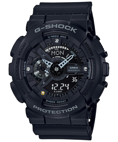 Casio G-Shock 35th Anniversary Diamond Index Black Resin Band Watch GA135DD-1A GA-135DD-1A