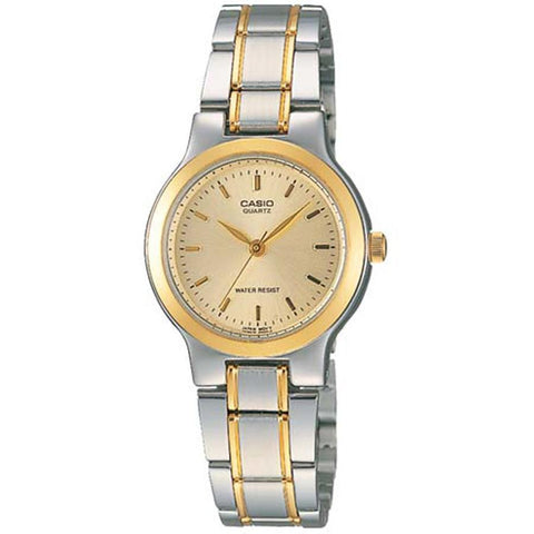 Casio Ladies' Classic Series Two-tone Stainless Steel Band Watch LTP1131G-9A LTP-1131G-9A