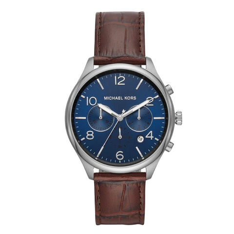 Michael Kors Men's Merrick Chronograph Brown Leather Watch MK8636