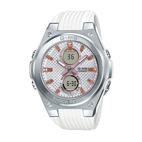 Casio Baby-G G-MS Lineup White Resin Band Watch MSGC100-7A MSG-C100-7A