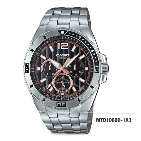 Casio Men's Diver Look Standard Analog Stainless Steel Band Watch MTD1060D-1A3 MTD-1060D-1A3