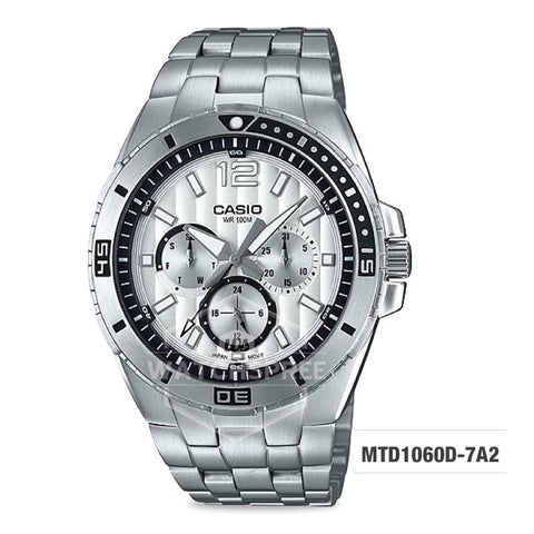 Casio Men's Diver Look Standard Analog Stainless Steel Band Watch MTD1060D-7A2 MTD-1060D-7A2