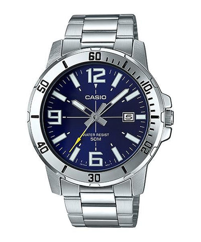 Casio Men's Diver Look Silver Stainless Steel Band Watch MTPVD01D-2B MTP-VD01D-2B