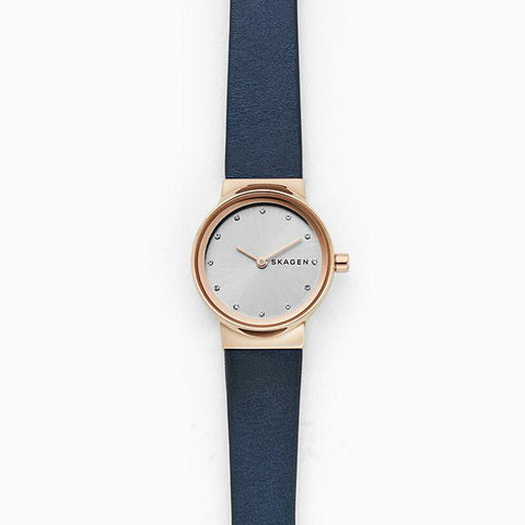 Skagen Ladies's Freja Blue Leather Strap Watch SKW2744