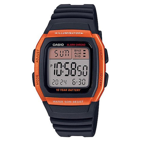 Casio Standard Digital Black Resin Band Watch W96H-4A2 W-96H-4A2