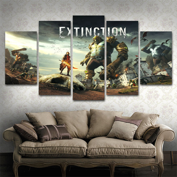 Extinction 5 Piece Canvas