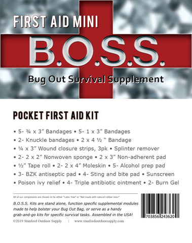 First Aid Mini B.O.S.S.- Pocket First Aid Kit