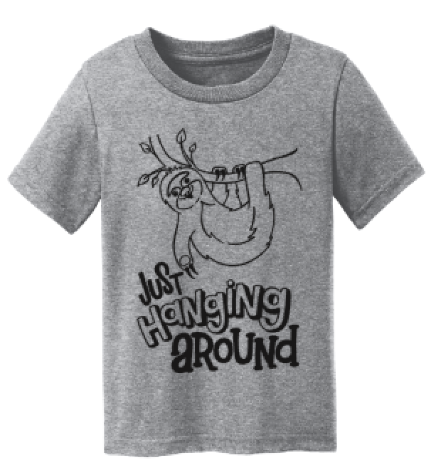 Just Hanging Around Sloth Kid's Tee
