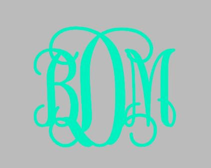 Custom Vinyl Monogram Decal