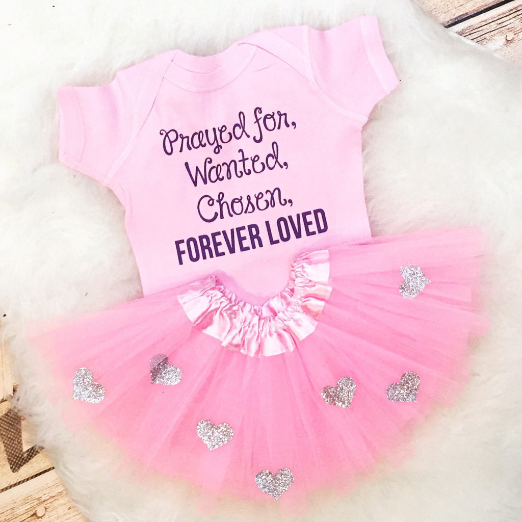 Prayed for Gotcha Day Adoption Outfit and Tutu Set