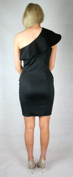 black frill dress fashion
