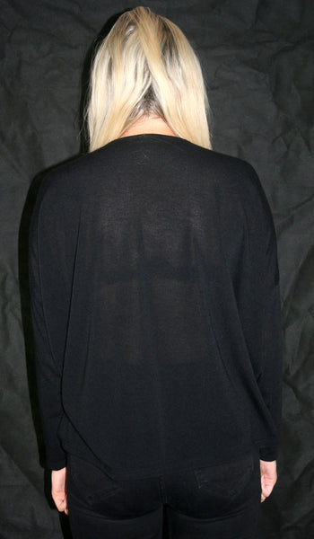 Black Casual Cardigan With Pockets