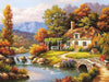 Image of Fairyland Landscape Acrylic Paint On Canvas DIY (Frameless) - Ezy Buy Outlet