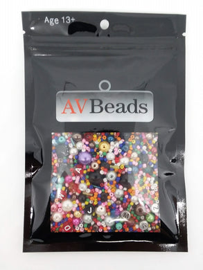 AVBeads Bulk Beads Mixed Beads Glass Beads Acrylic Beads 5oz Scatter Mix