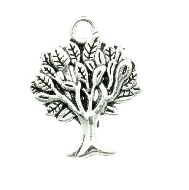 AVBeads Tree Charms 22x17x2.2mm Silver CHM05574