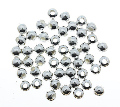AVBeads Beads Metal Round Spacer 6mm Silver Plated Alloy BMRS6-10448 approx. 200pcs
