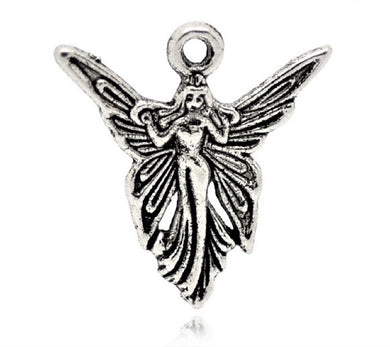 AVBeads Bulk Charms Fairy Angel Charms 19mm x 20mm Silver Metal Charms 100pcs