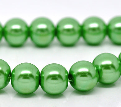 Beads Glass Strand 10mm Pearl Green 16