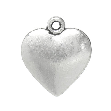 AVBeads Heart Charms Silver Metal Alloy 16mm x 14mm CHM33763 100pcs