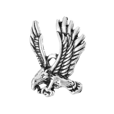 AVBeads Bulk Charms Bird Eagle Charms 27mm x 19mm Silver Metal Charms 50pcs
