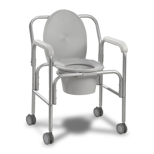 Aluminum Commode with Wheels