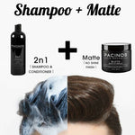 Pacinos Shampoo & Matte Combo - #1 Selling Combo - Barber Clips